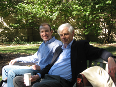 Richard Buxton with Geoff Benson at the University of Chicago